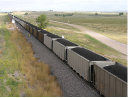 Coal train in Wyoming. (Goebel 2006)